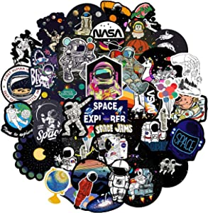NASA Stickers for Hydro Flask[50pcs] Space Explorer Universe Galaxy Astronaut Spaceman Spacecraft Planet Decal for Water Bottle Laptop Tumbler Computer Guitar Helmet Luggage Bike, Kids Teens Gifts