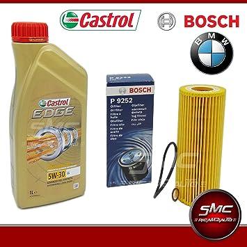 Aceite de motor de 8 L Castrol Edge 5W30 + filtro del aceite Bosch 1457429252