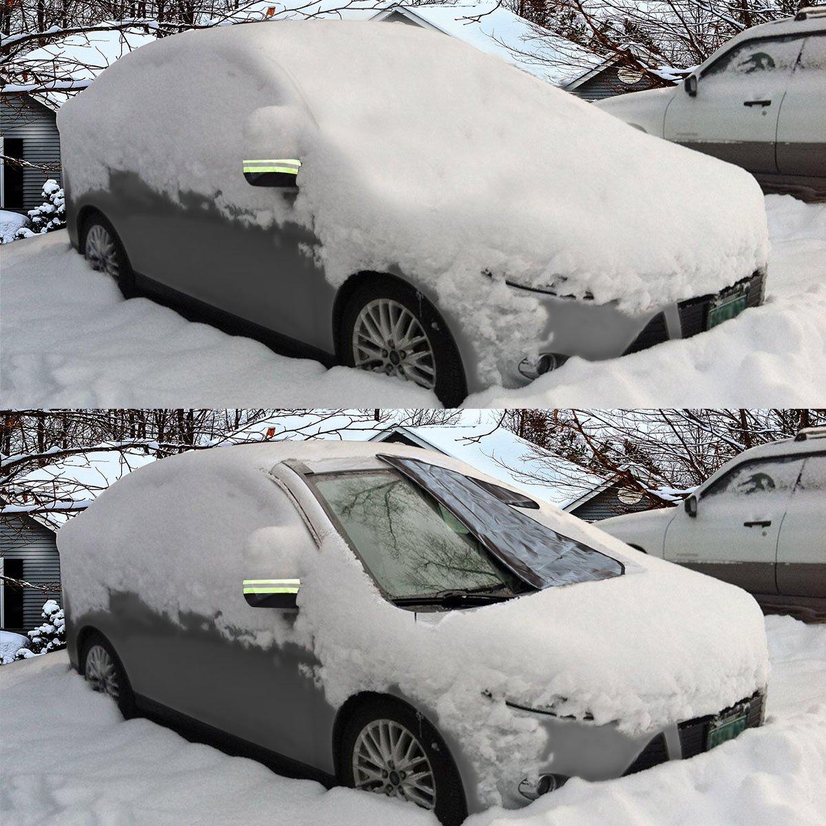 Xcellent Global Couverture pare-brise voiture givre glace /& neige Argent M-AT06S