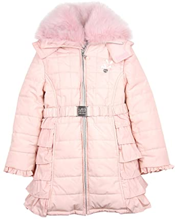 01d1b65a8 Amazon.com  Le Chic Girl s Puffer Coat with Ruffles Peach