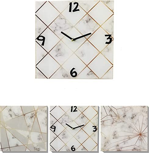 U HOME Large Frameless Wall Clock Decor