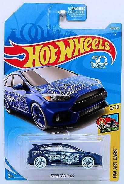 Hot Wheels 2018 Intl Card Ford Focus RS 276//365 HW Art Cars 3//10 Blue Die Cast Model Car