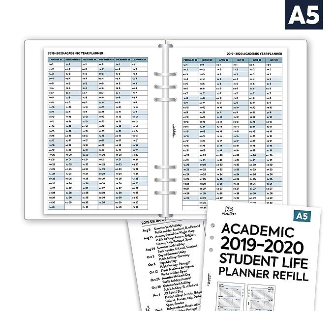 NBplanner® Academic 2019-2020 - Agenda con dos páginas para ...