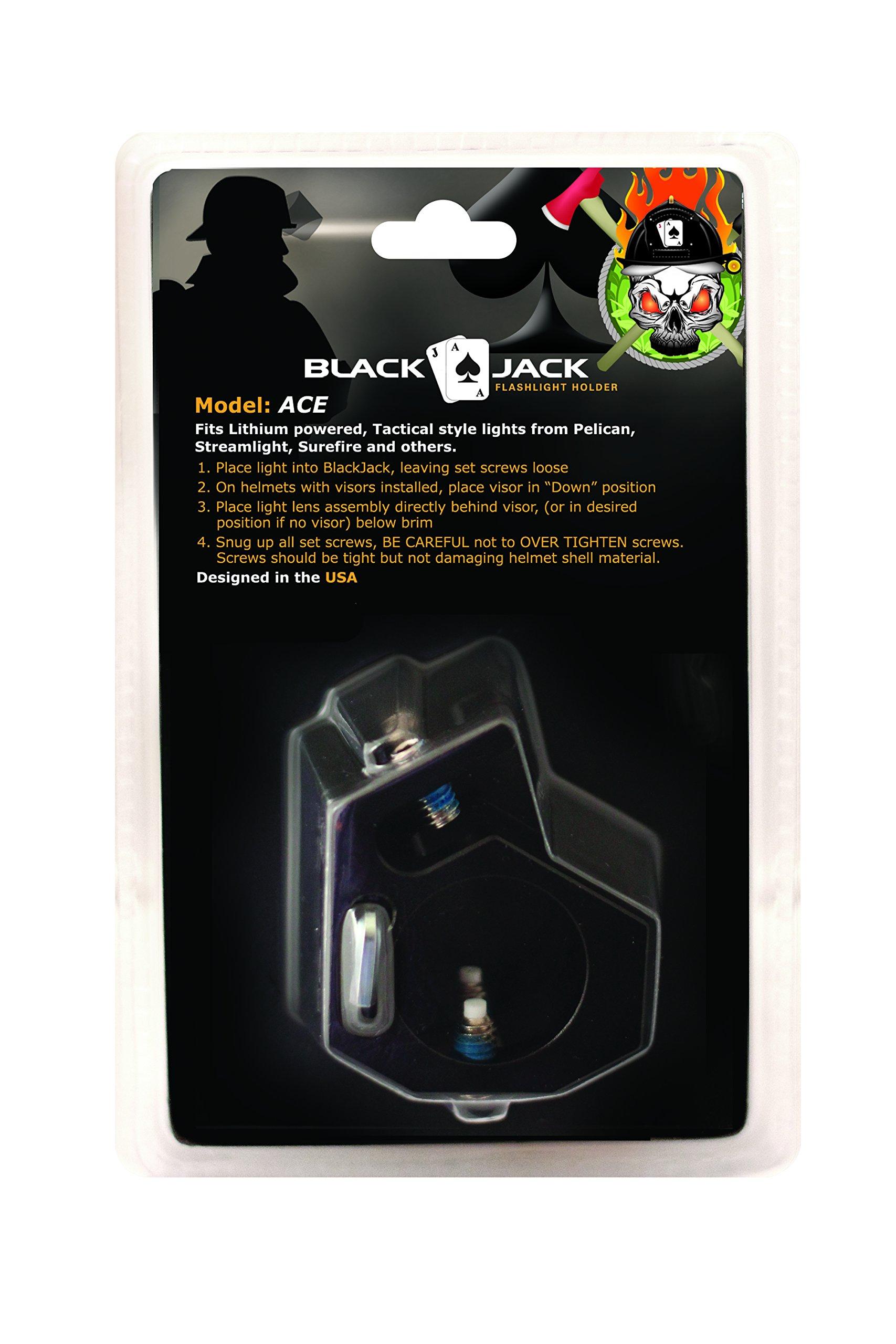 Blackjack ACE Firefighter Helmet Aluminum Flashlight Holder by Blackjack Fire & Safety (Image #2)