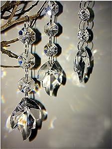 Hot 30PCS Acrylic Crystal Beads Garland Chandelier Hanging Wedding Party Celebration Decor (Style 10)
