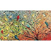 Toland Home Garden Tree Birds 18 x 30 Inch Decorative Floor Mat Colorful Bird Branch...