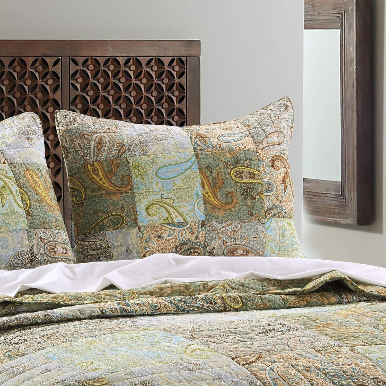 Greenland Home Paisley Dream Pillow Sham, Standard, Multicolored