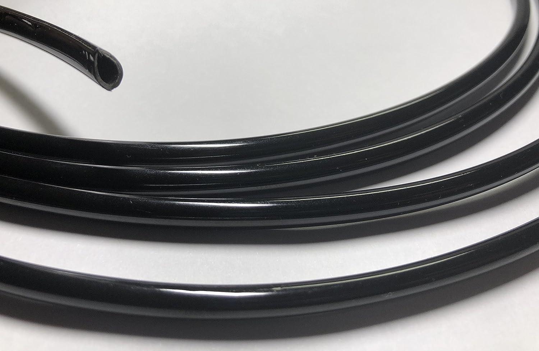 phil trade/® Keder U Profil Zierleiste Kantenleiste KfZ T/ürleiste in verschiedenen L/ängen 2 Meter schwarz
