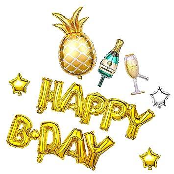 Konsait Globos de Fiesta de cumpleaños, infla Feliz ...