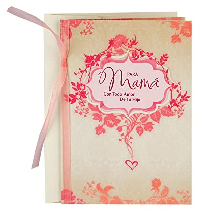 Amazon hallmark vida spanish mothers day greeting card from hallmark vida spanish mothers day greeting card from daughter more than words can m4hsunfo