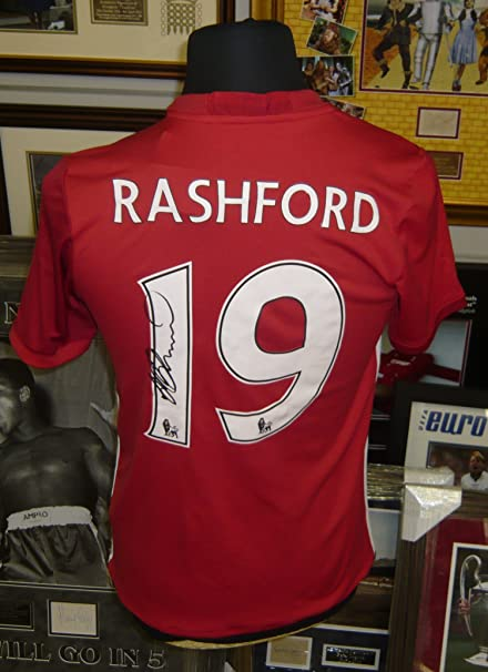 finest selection 74dad 58a37 Marcus Rashford Manchester Utd Shirt Genuine Hand Signed ...