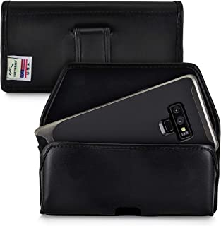 product image for Turtleback Holster Compatible with Samsung Note 9 and Note 8 Black Belt Case Leather Pouch with Executive Belt Clip Horizontal Made in USA