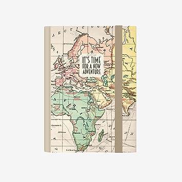 Legami AG160407 - Agenda foto 16 meses semanal con cuaderno pequeña 2018/2019, color mapa