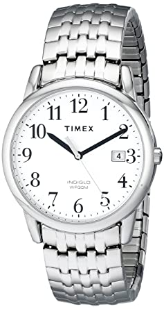 57fe4eedc Image Unavailable. Image not available for. Color: Timex Men's T2P294 Easy  Reader Dress Silver-Tone Stainless Steel Expansion Band Watch