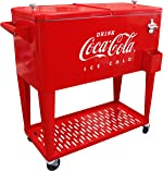 Leigh Country CP 98126 80 Quart Coca-Cola Cooler with Grated Tray,