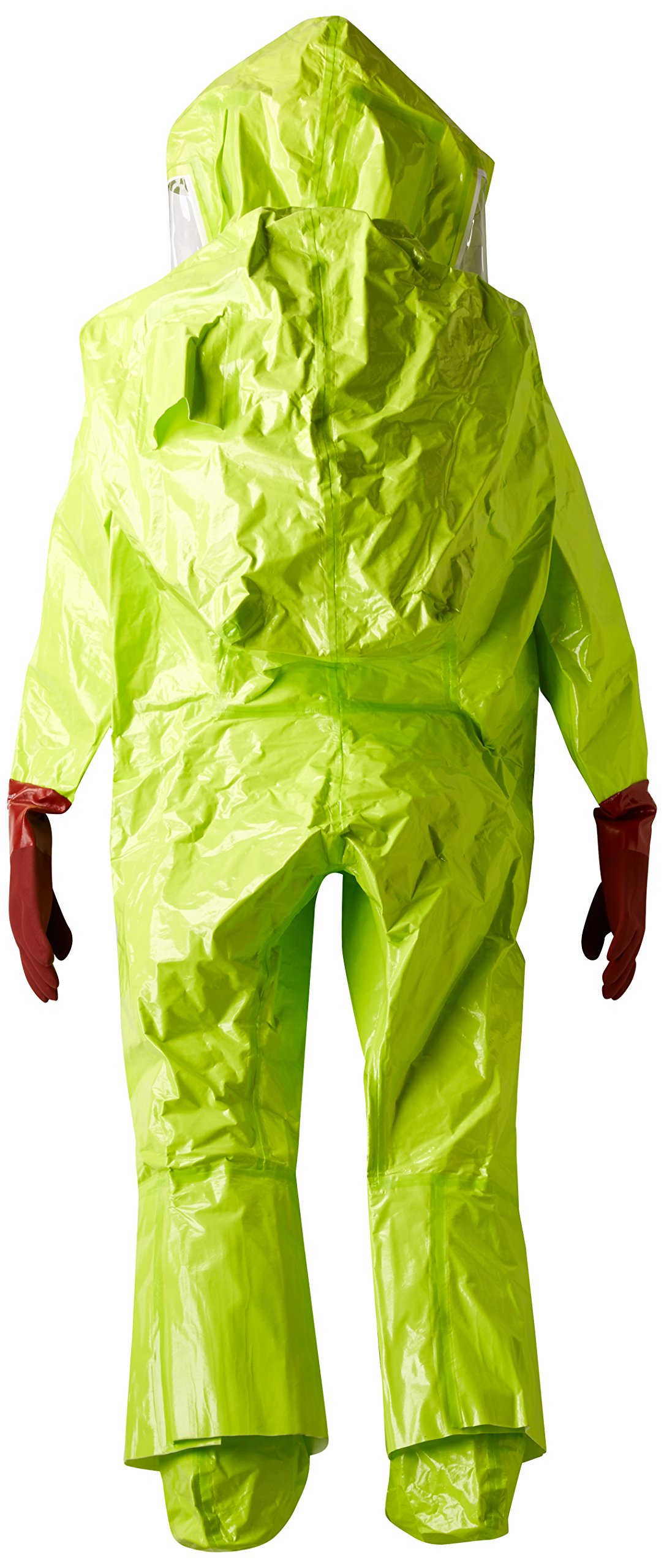 Dupont TK586TLYXL000100 EncapTrainSuit, Expanded Back, Front Entry, Taped Seams, X-Large, Lime Yellow by DuPont (Image #3)