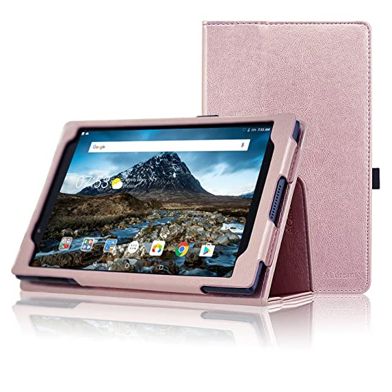 info for a3390 b4587 Lenovo Tab 4 8 Case, ACdream Premium PU Folio Leather Tablet Case for  Lenovo Tab4 8 tablet(2017 version), Rose Gold
