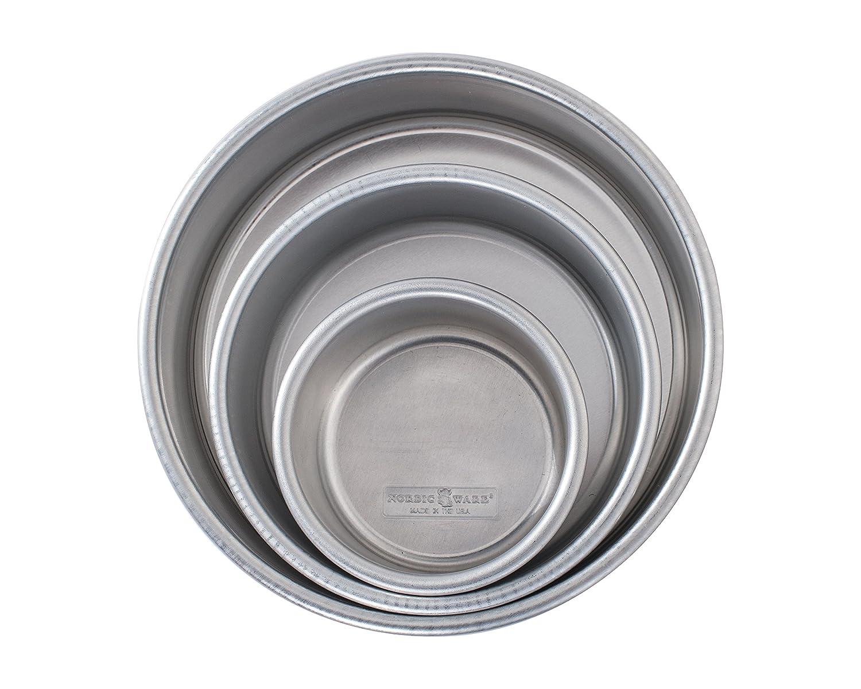 Nordic Ware 45423 Naturals Aluminum Bakeware Layer Cake Pan, Silver