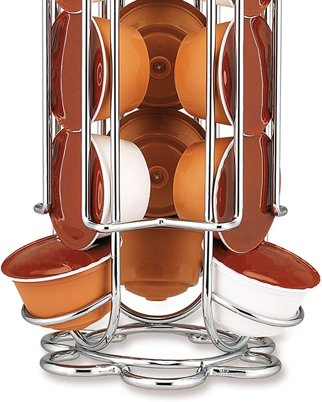 Fackelmann Porta C/ápsulas Dolce Gusto Acero Cromado /Ø125x325mm