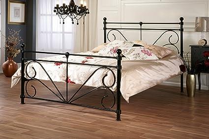 Adornos de Metal negro marco de la cama – 121,92 cm/120 cm ...
