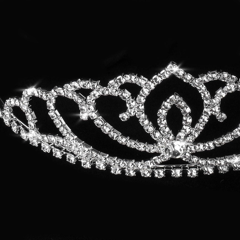 Tiare Nuptiale /Él/égante Pour Mari/ée Ou Demoiselle DHonneur Katara 1738 Couronne De Princesse en Strass Avec Serre-t/ête