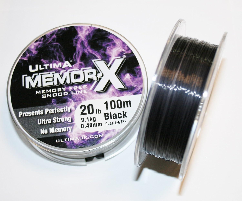 Black 0,45 mm 100 m Spool 20,0 LB//9,1 kg ULTIMA MemorX