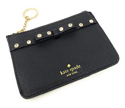 hot sale online 480cf ad435 Kate Spade New York Laurel Way Bitsy Card Case Wallet Key Ring Jeweled Black