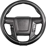 """SEG Direct Car Steering Wheel Cover Large-Size for F150 F250 F350 Ram 4Runner Tacoma Tundra Range Rover with 15 1/2""""-16"""" Oute"""