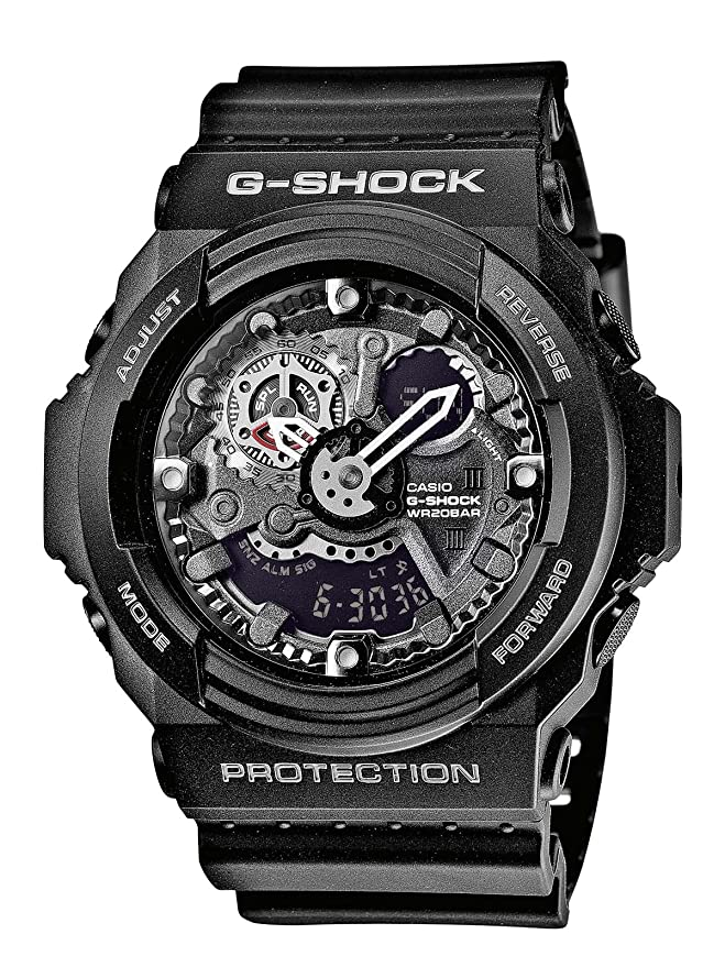 b16f92e8b98a CASIO G-SHOCK GA-300-1AER - Reloj analógico y digital de cuarzo con correa  de polímero