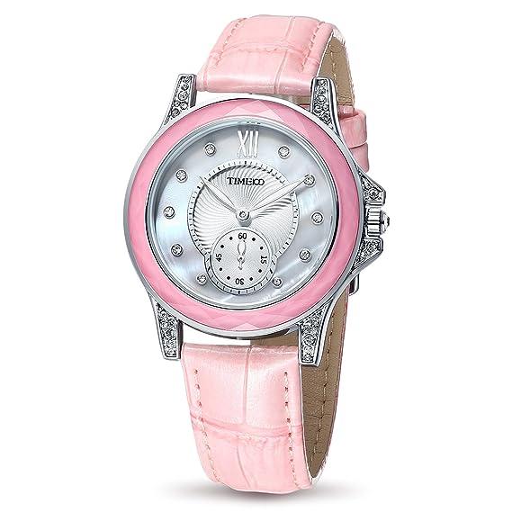 Time100 W80127L.01A 2017 Reloj Rosa Moderno Básico de Pulsera para Mujer: Amazon.es: Relojes