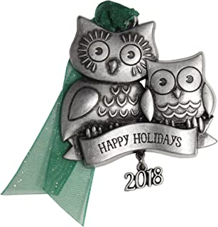 product image for Gloria Duchin Owl Family Christmas Ornament, Silver