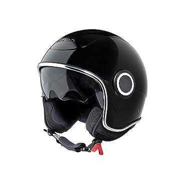 Vespa VJ1 - Casco para moto, color negro