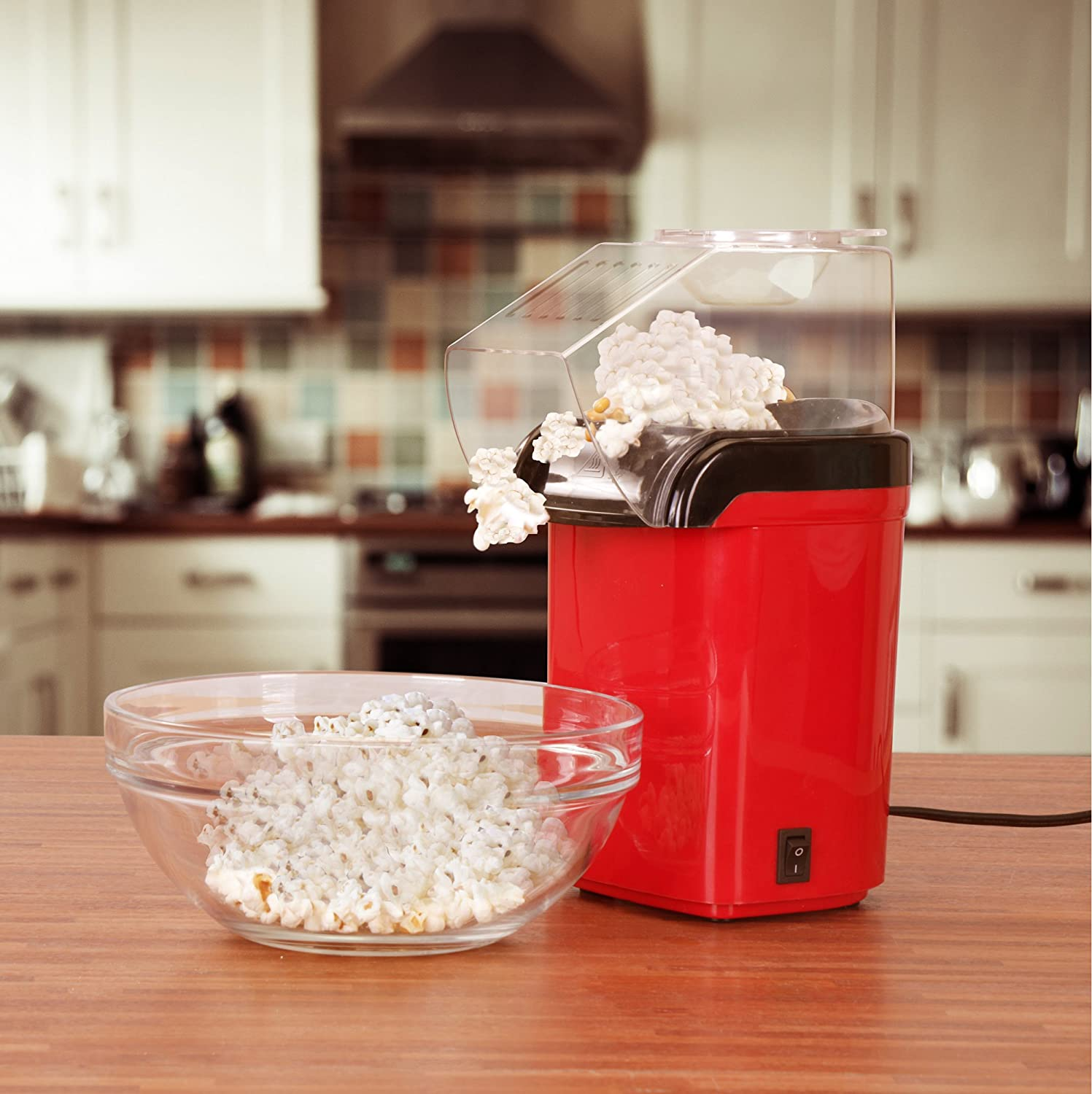 Quick Easy Popcorn Maker Red One Key Operation For Machine Wiring Diagrams Oil Free By Utopia Home Kitchen Dining