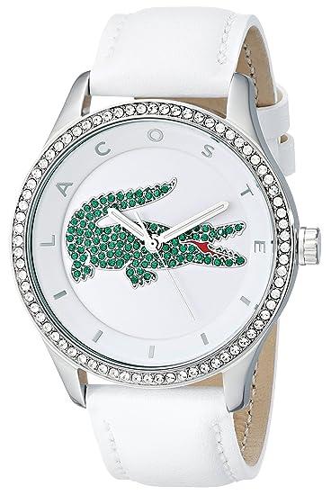 Lacoste Mujer-Reloj analógico de Cuarzo de Cuero 2000893