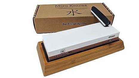 Amazon Com Mizu 1000 6000 Grit Premium Whetstone Knife Sharpening