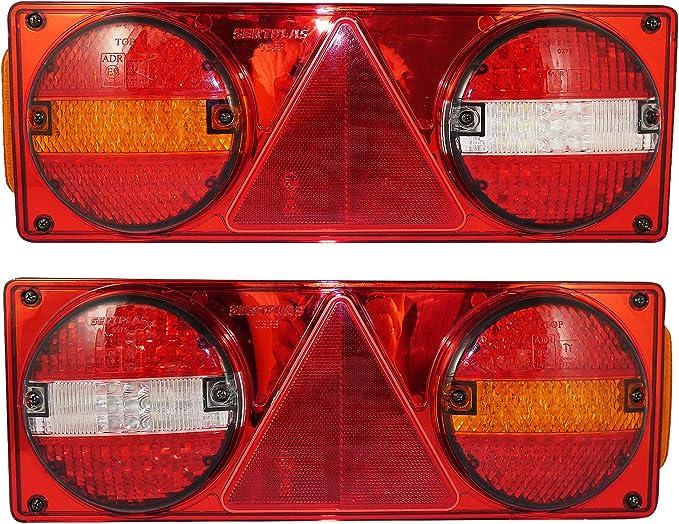 A1 Led Rücklichter Kombinations Rückleuchten Heckleuchten Für Anhänger Lkws 24v Auto