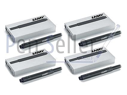Lamy T10 RFT129EA - Cartuchos para pluma estilográfica Lamy, 4 estuches de 5 cartuchos, Negro