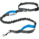 Tuff Mutt Hands Free Dog Leash for Running, Walking, Hiking, Durable Dual-Handle Bungee Leash is 4 Feet Long with…