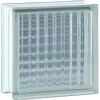 6 piezas BM bloques de vidrio lineas cruzadas