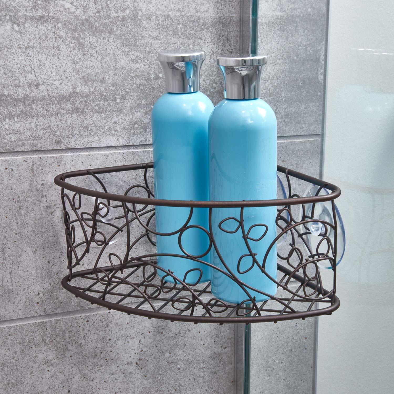 Amazon.com: InterDesign Twigz Suction Corner Basket, Bronze: Home ...
