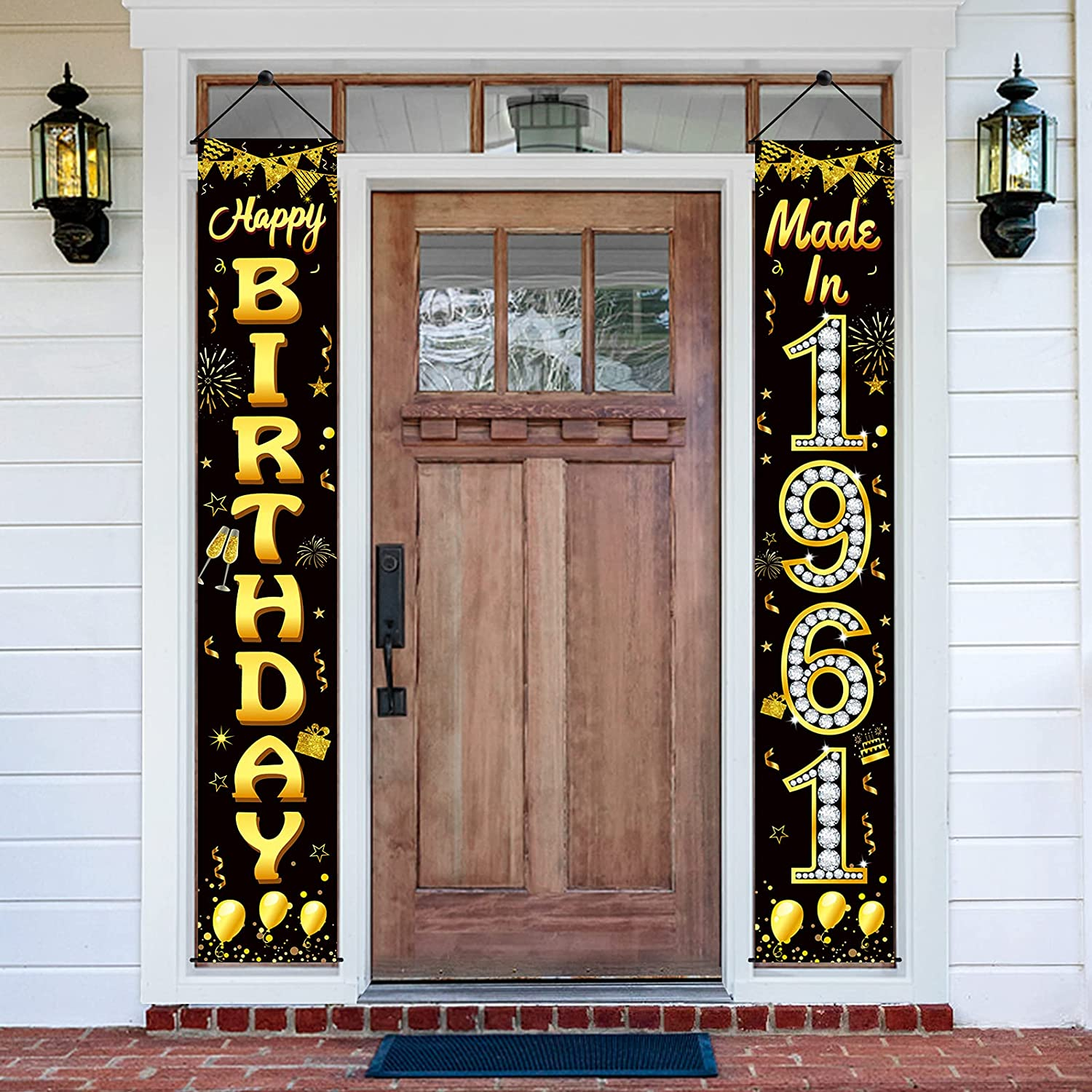 60th Birthday Porch Banner Today's only Decorations for Portland Mall in Men 19 Made Women