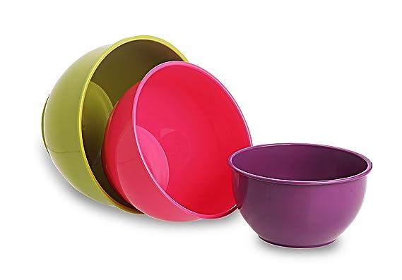 All Time Plastics Classic Mixing Bowl Set, 7 Litre, 3-Pieces, Multicolour