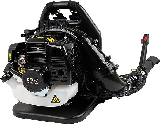 DeTec. Soplador de hojas de gasolina DT-BL808 con almohadilla trasera y correa con regulador de velocidad para el motor de gasolina: Amazon.es: Jardín