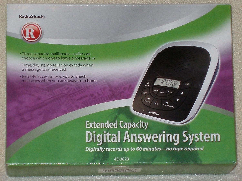 Amazon.com : RadioShack Extended Capacity Digital Answering System 43-3829  : Answering Devices : Electronics