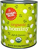 Natural Value Organic Hominy, 108 Ounce