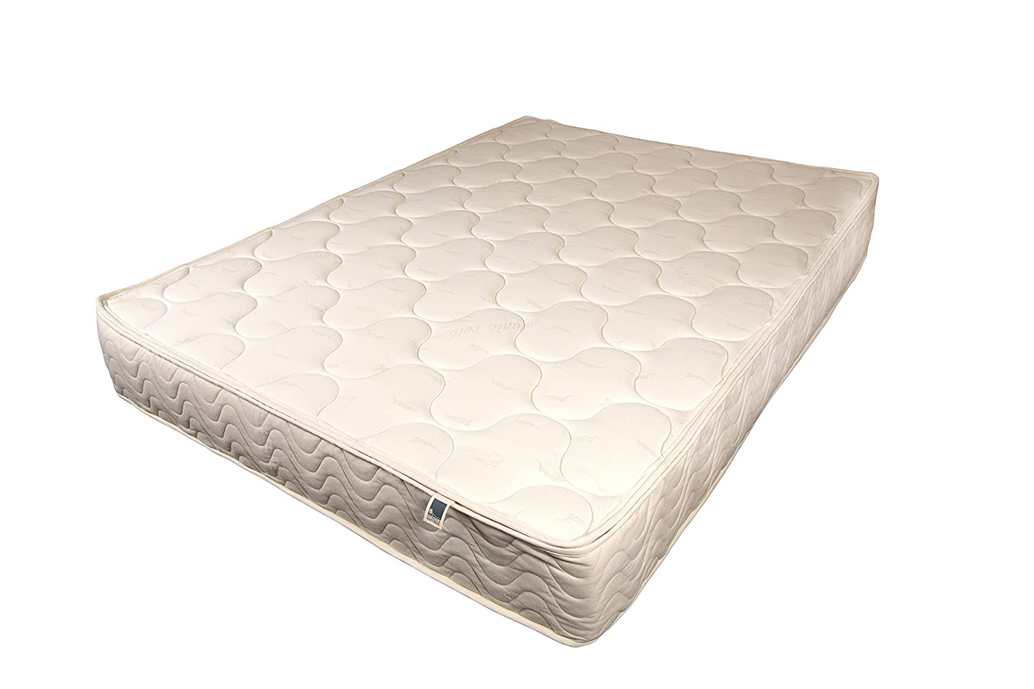 "SPINDLE Natural Latex Mattress. 10"" Dunlop Natural Latex Mattress with Zipper Cover Made with Wool and Organic Cotton. Made in The U.S.A. (Queen, Firm)"