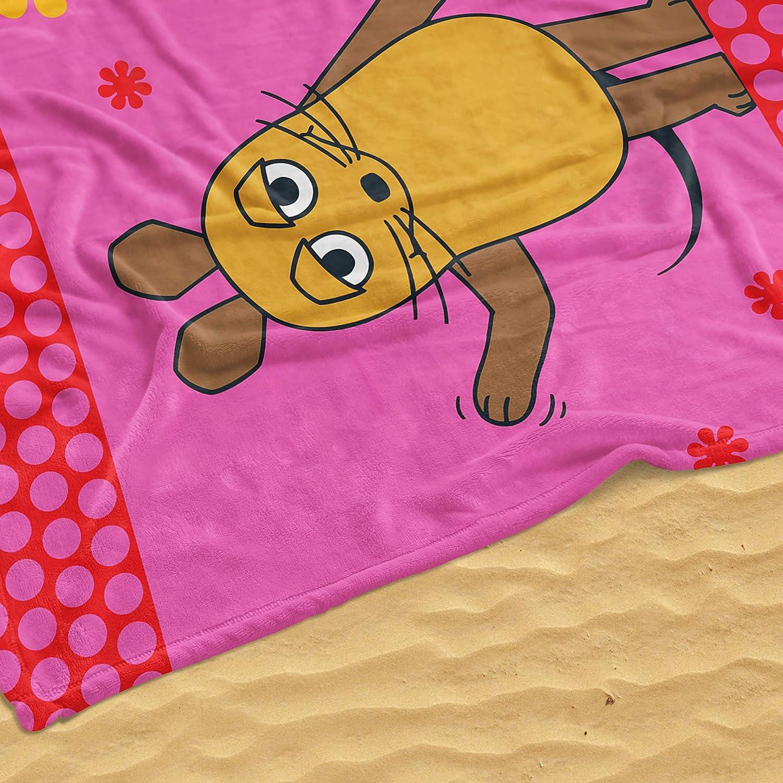 Beronage Die Sendung Mit Der Maus Decke Maus Flower Rosapink 130 Cm