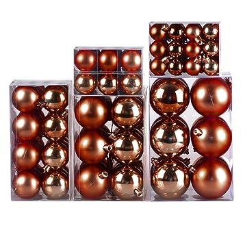 Christbaumkugeln Glas Kupfer.120 Christbaumkugeln Kupfer Bronze 3 Bis 7 Cm Dekokugeln Weihnachtskugeln Baumkugeln Baumschmuck