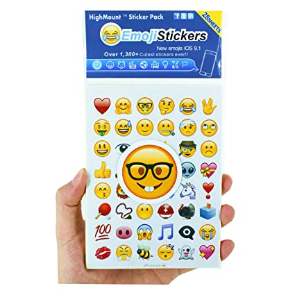 photograph about Emoji Printable Sheets identified as HighMount Most recent Emoji Stickers 28 Sheets with Content Faces Baby Stickers in opposition to apple iphone Fb Twitter