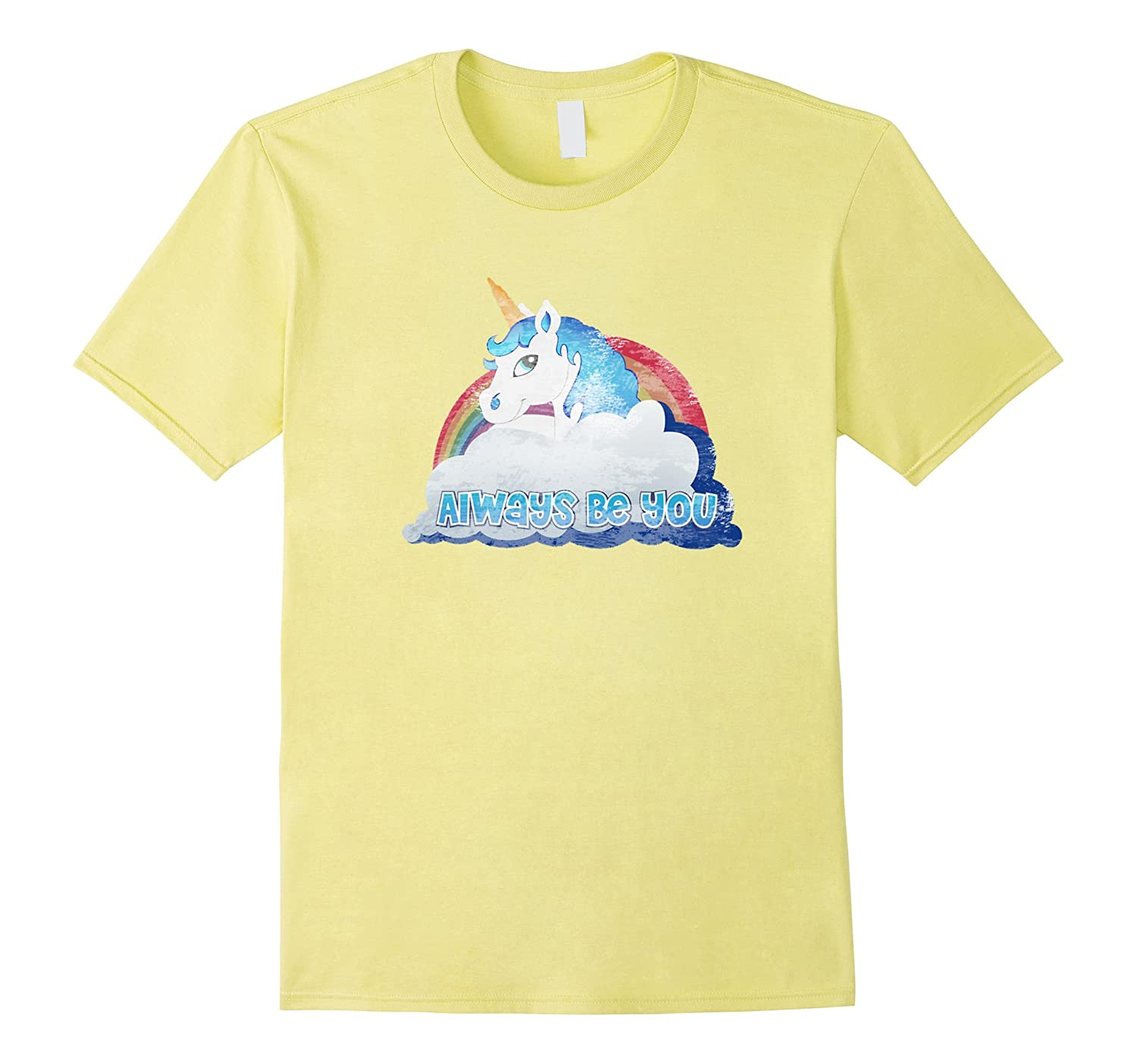Always Be You Unicorn Distressed Premium T Shirt-CL